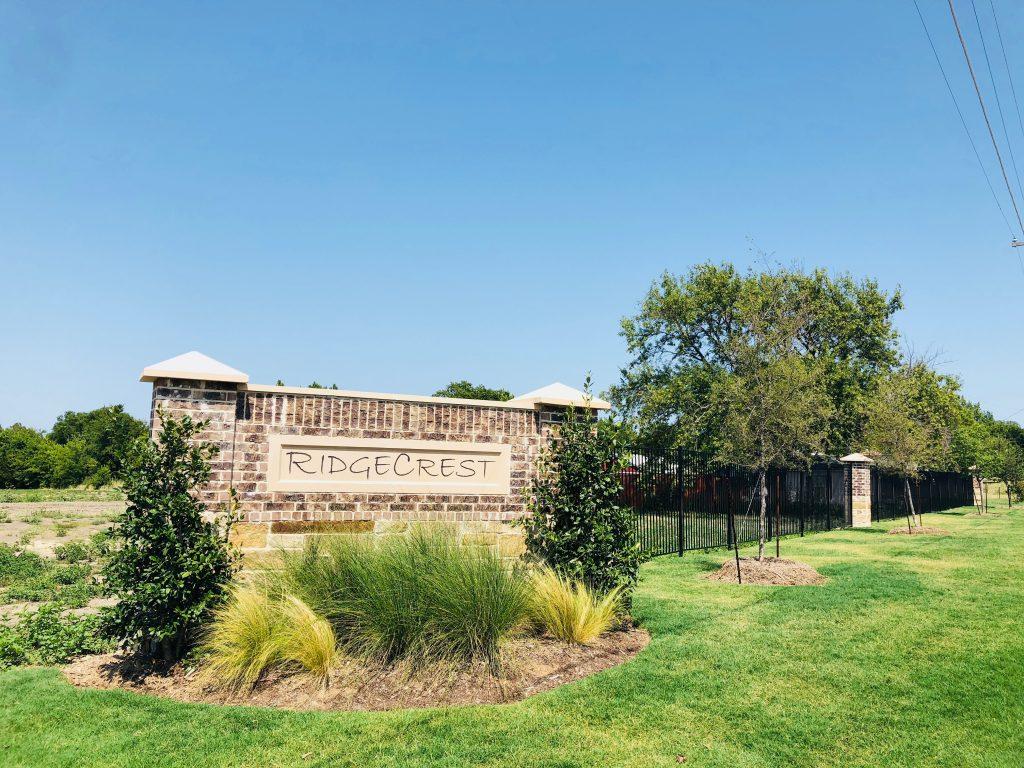 Ridgecrest Subdivision Rockwall